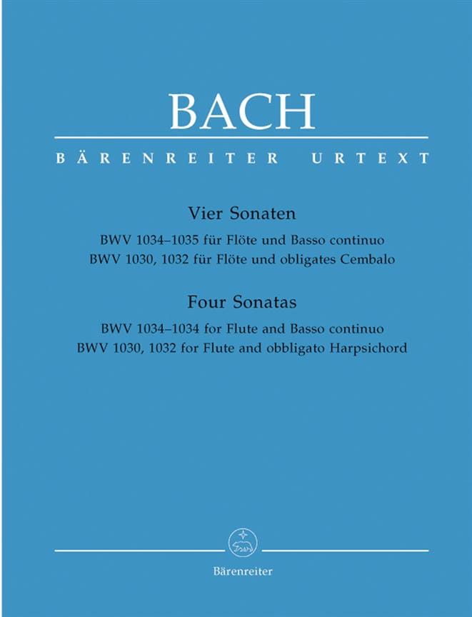 BACH - Sonatas for Flute and Harpsichord or Basso continuo - Partition - di-arezzo.co.uk