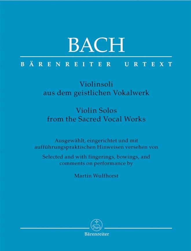 BACH - Violinsoli aus dem geistlichen Vokalwerk - Partition - di-arezzo.es