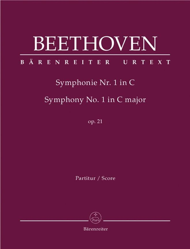 BEETHOVEN - Symphony Nr. 1 C-Dur op. 21 - Conductor - Partition - di-arezzo.es