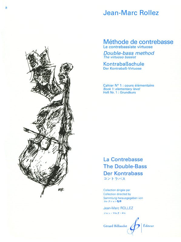Jean-Marc Rollez - Double bass method Volume 1 - Partition - di-arezzo.co.uk