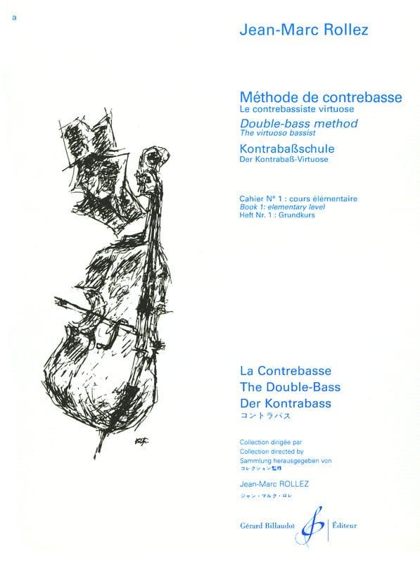 Méthode de Contrebasse Volume 1 - Jean-Marc Rollez - laflutedepan.com