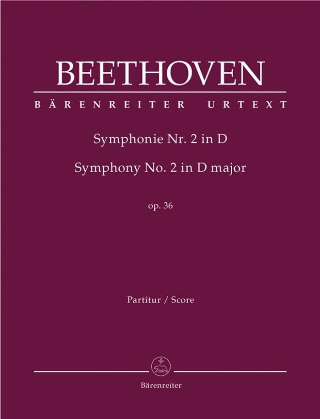 BEETHOVEN - Symphony Nr. 2 D-Dur op. 36 - Driver - Partition - di-arezzo.com