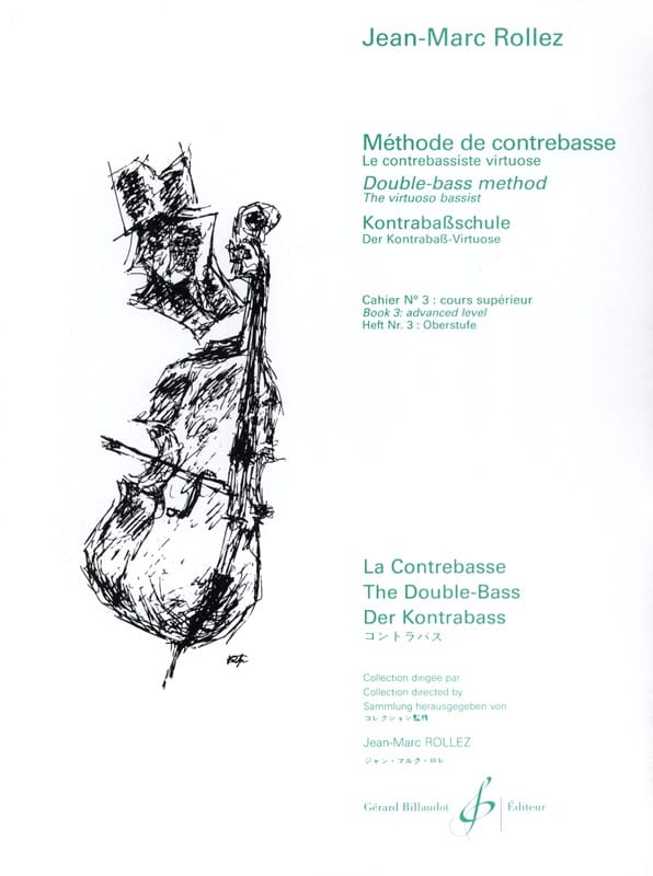 Jean-Marc Rollez - Double bass method Volume 3 - Partition - di-arezzo.com