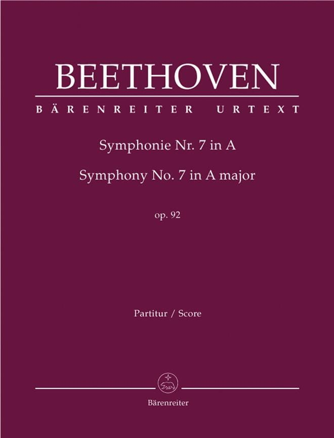 BEETHOVEN - Symphony No. 7 A-Dur op. 92 - Partition - di-arezzo.co.uk