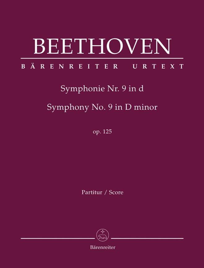 Symphonie N° 9 D-Moll Op. 125 - conducteur - laflutedepan.com