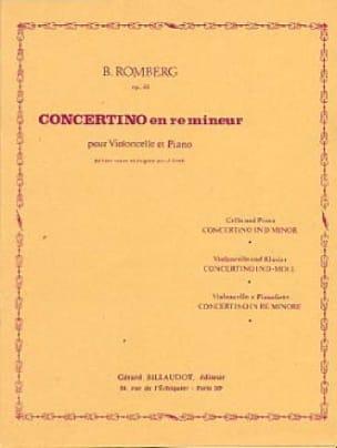Concertino en ré mineur op. 51 - ROMBERG - laflutedepan.com