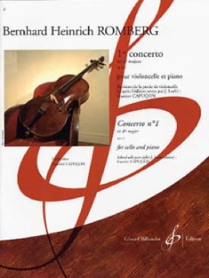 Bernhard Romberg - Concerto No. 1 in B Flat Major Op. 2 - Partition - di-arezzo.co.uk