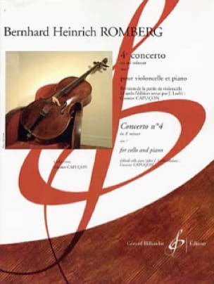 Bernhard Romberg - Concerto No. 4 in E minor op. 7 - Partition - di-arezzo.co.uk