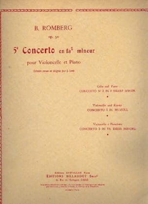 Concerto N° 5 en FA dièse mineur opus 30 - ROMBERG - laflutedepan.com