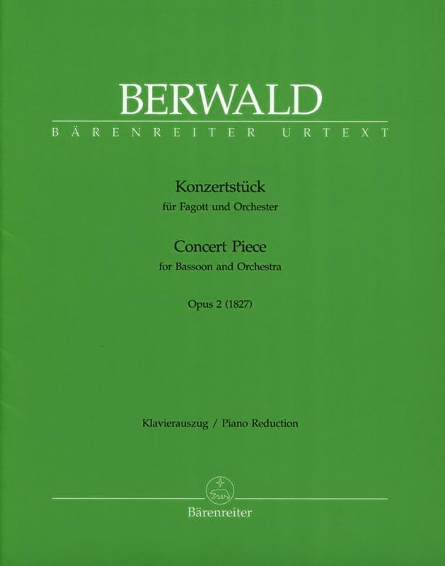 Konzertstück op. 2 -Fagott Klavier - Franz Berwald - laflutedepan.com