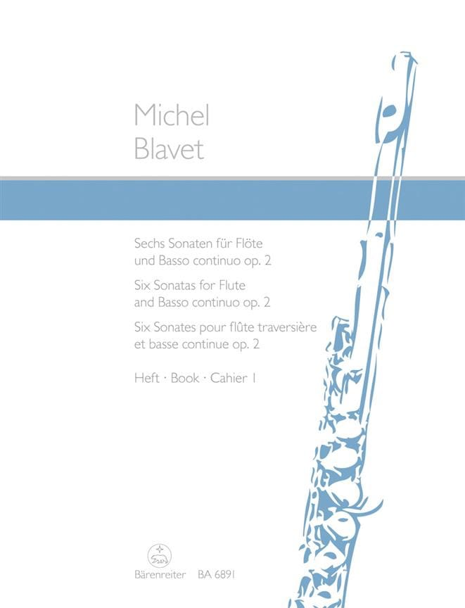 Michel Blavet - 6 Sonaten op. 2 Heft 1 - Flöte und Bc - Partition - di-arezzo.co.uk