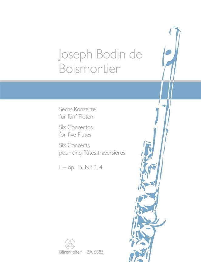 BOISMORTIER - Op.15 Concertos N ° 3 and 4 - Vol.2 - Partition - di-arezzo.com