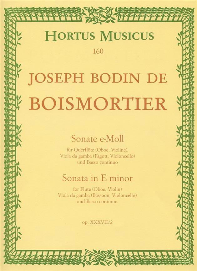 Sonate e-moll - Flöte Oboe, Violine, Viola da Gamba Fagott, Cello u. Bc - laflutedepan.com