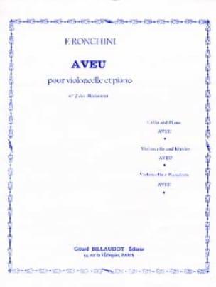 Aveu - F. Ronchini - Partition - Violoncelle - laflutedepan.com