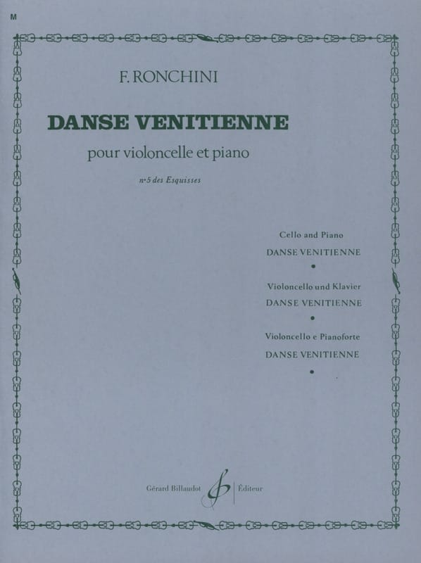 Danse vénitienne - Ronchini - Partition - laflutedepan.com