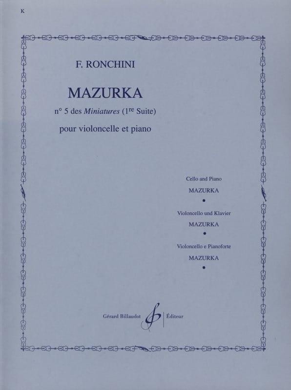 F. Ronchini - Mazurka - Partition - di-arezzo.co.uk