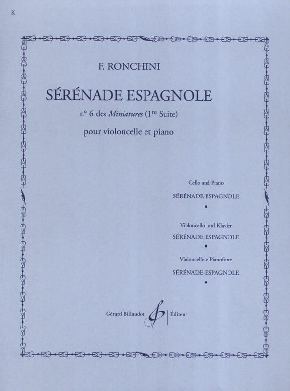 Sérénade espagnole - F. Ronchini - Partition - laflutedepan.com
