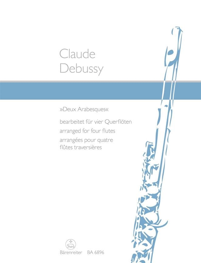 DEBUSSY - Two arabesques - 4 Flöten - Partition - di-arezzo.co.uk