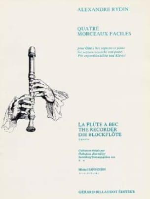 4 Morceaux faciles - Alexandre Rydin - Partition - laflutedepan.com