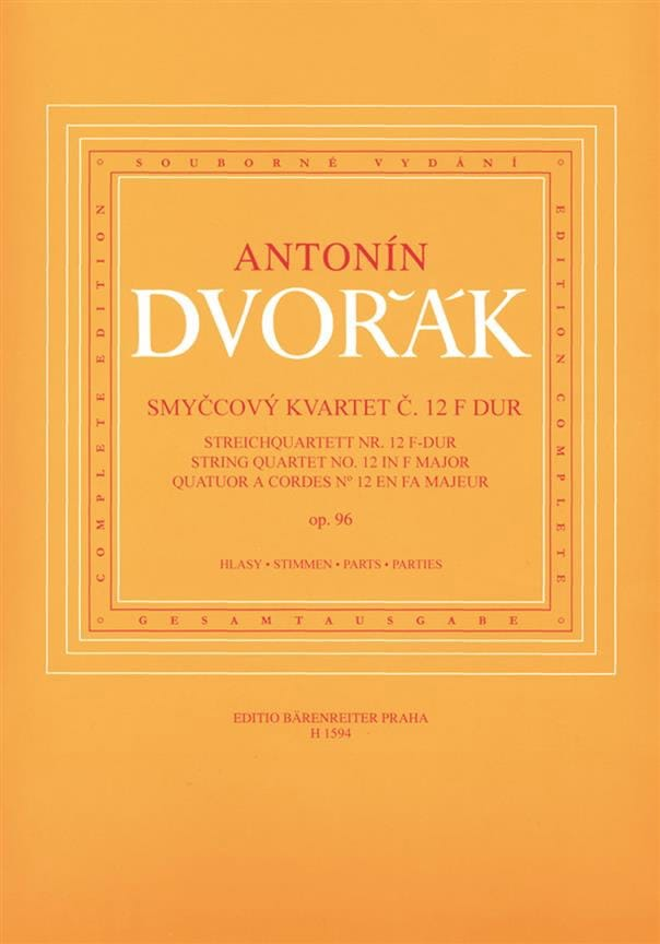 DVORAK - Streichquartett Nr. 12 in F-Dur op. 96 - parts - Partition - di-arezzo.co.uk