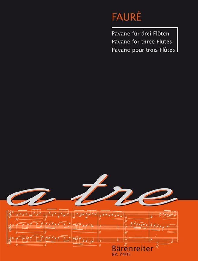 Pavane - 3 Flûtes - Gabriel Fauré - Partition - laflutedepan.com