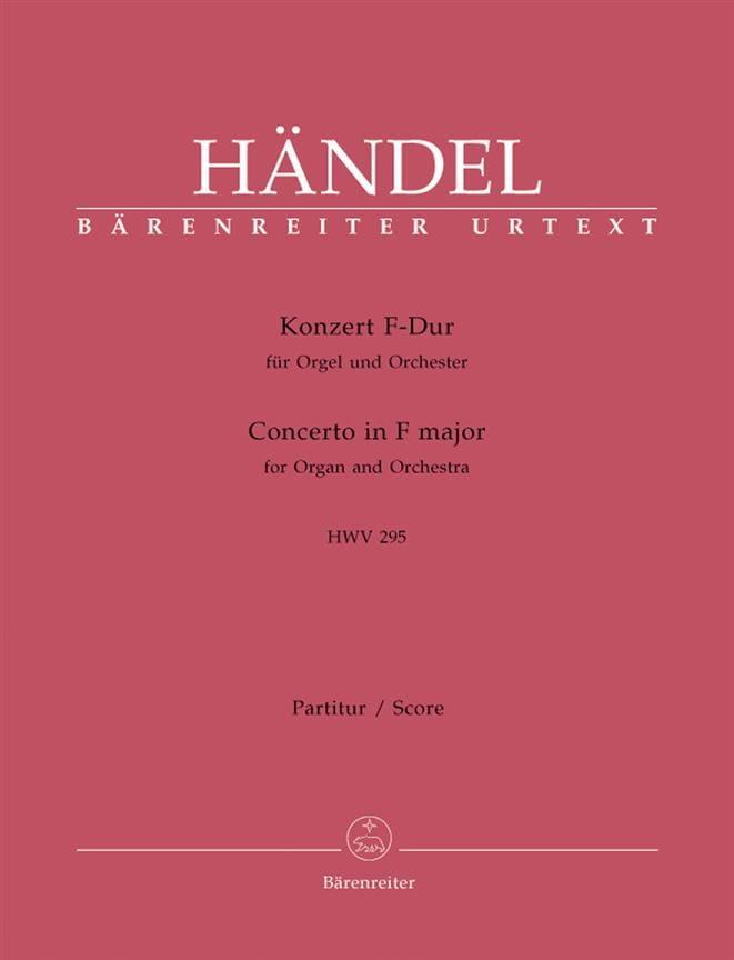 Orgelkonzert F-Dur HWV 295 - HAENDEL - Partition - laflutedepan.com