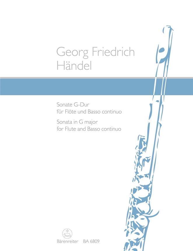 HAENDEL - Sonata G-Dur - Flute and Bc - Partition - di-arezzo.com