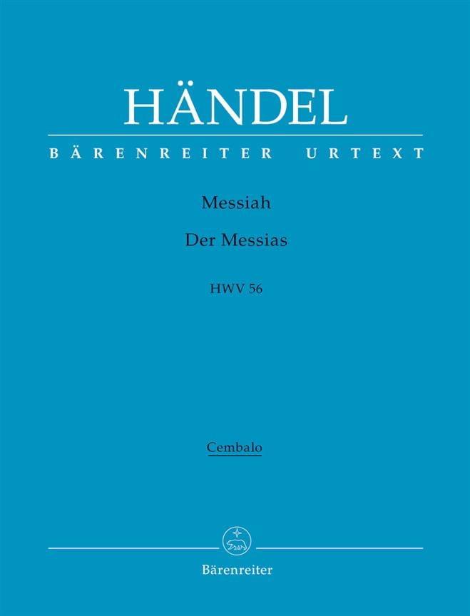 The Messiah - Der Messias. Oratorium in drei Teilen. Urtext der HallischenHändel - laflutedepan.com