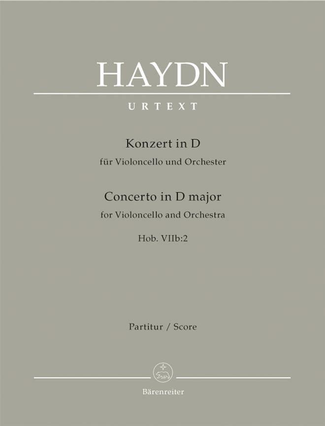 HAYDN - Violoncello-Konzert D-Dur Hob 7b: 2 - Partitur - Partition - di-arezzo.co.uk