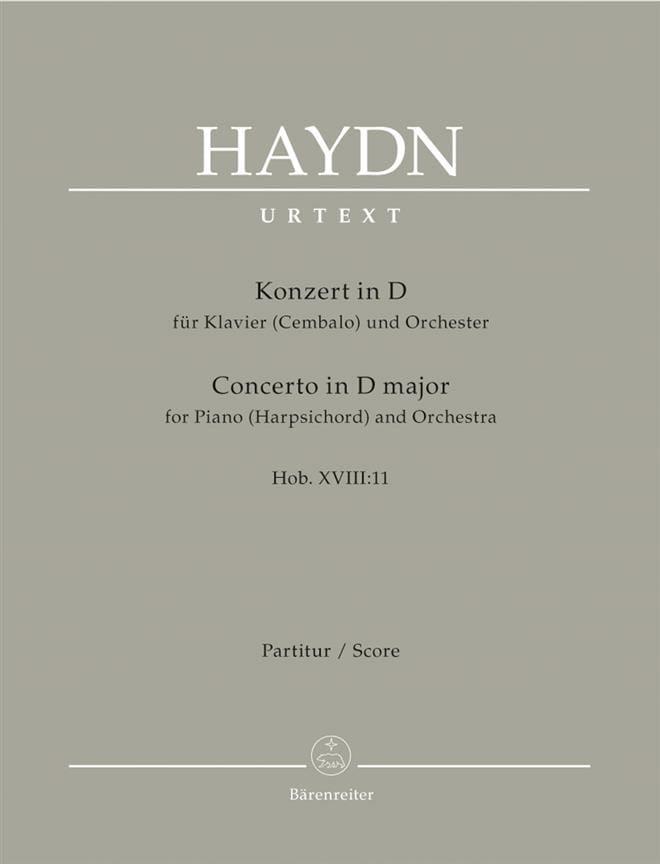 HAYDN - Klavier-Konzert in D - Hob. 18:11 - Partitur - Partition - di-arezzo.co.uk