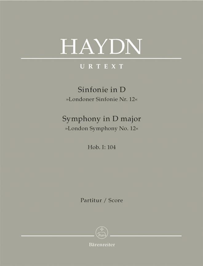 HAYDN - Symphony Nr. 104 D-Dur - Partitur - Partition - di-arezzo.co.uk