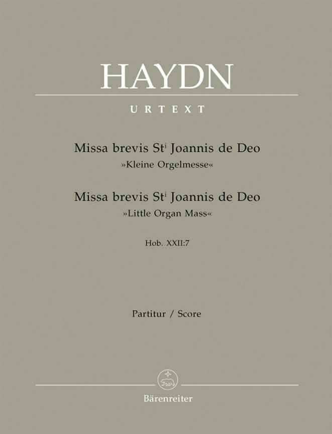 Missa brevis Sancti Joannis de Deo - Hob. 22: 7 - Partitur - laflutedepan.com
