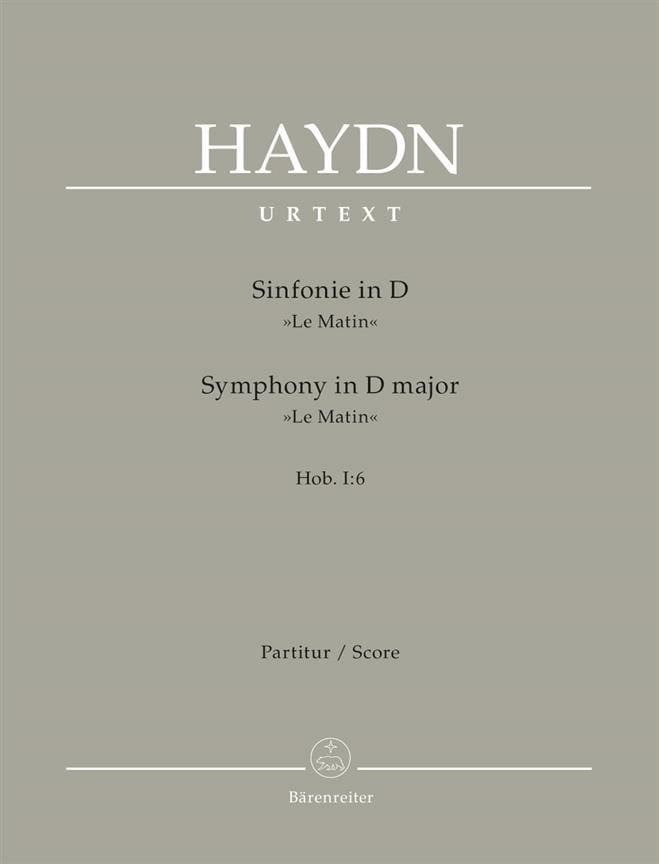 Sinfonie Nr. 6 D-Dur Le Matin - Partitur - HAYDN - laflutedepan.com