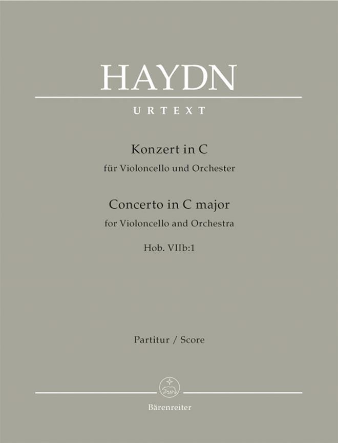 HAYDN - Violoncello-Konzert C-Dur Hob 7b: 1 - Partitur - Partition - di-arezzo.co.uk