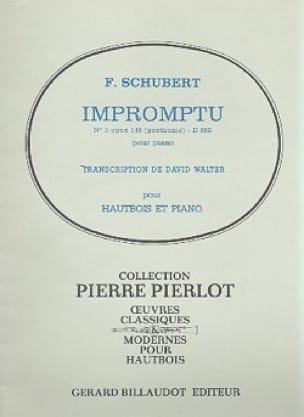 Impromptu n° 3 op. 142 - Hautbois - SCHUBERT - laflutedepan.com