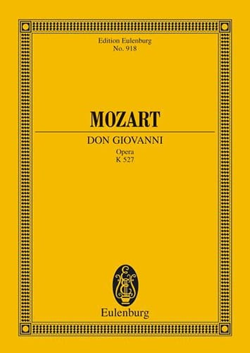 Don Giovanni - Conducteur - MOZART - Partition - laflutedepan.com