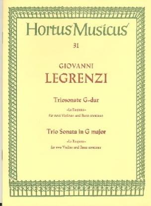 Triosonate G-Dur La Raspona -2 Violinen u. Bc - laflutedepan.com