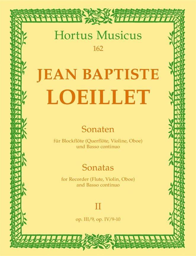 de Gant Jean Baptiste Loeillet - Sonaten - Heft 2 - Blockflöte Flöte, Violine, Oboe u. Bc - Partition - di-arezzo.com