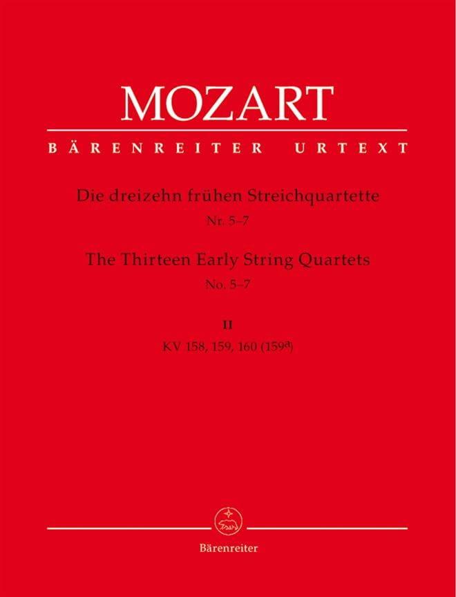 13 Frühe Streichquartette, Heft 2 KV 158-160 -Stimmen - laflutedepan.com