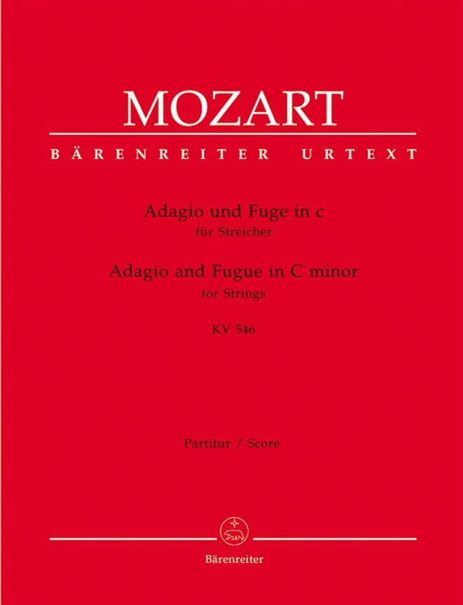 MOZART - Adagio und Fuge c-moll KV 546 for Streicher - Driver and Instrumentation - Partition - di-arezzo.co.uk