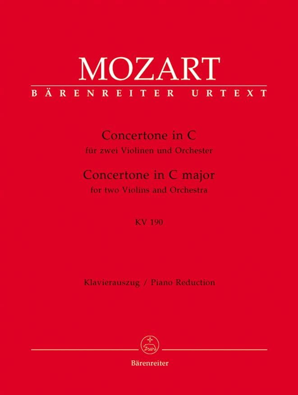 MOZART - Concertone in C-Dur KV 190 - 2 Violin Klavier - Partition - di-arezzo.co.uk