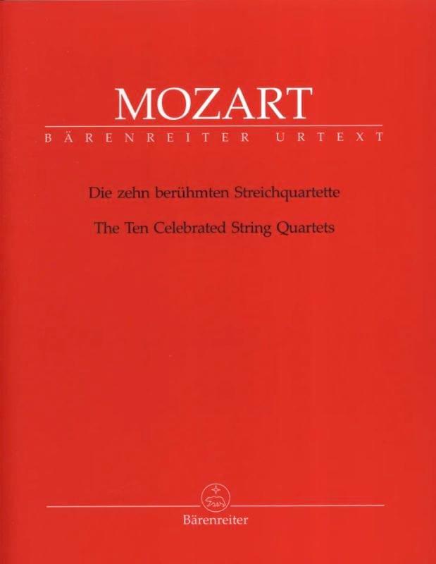 MOZART - Los diez cuartetos de cuerda más conocidos: partes instrumentales. - Partition - di-arezzo.es