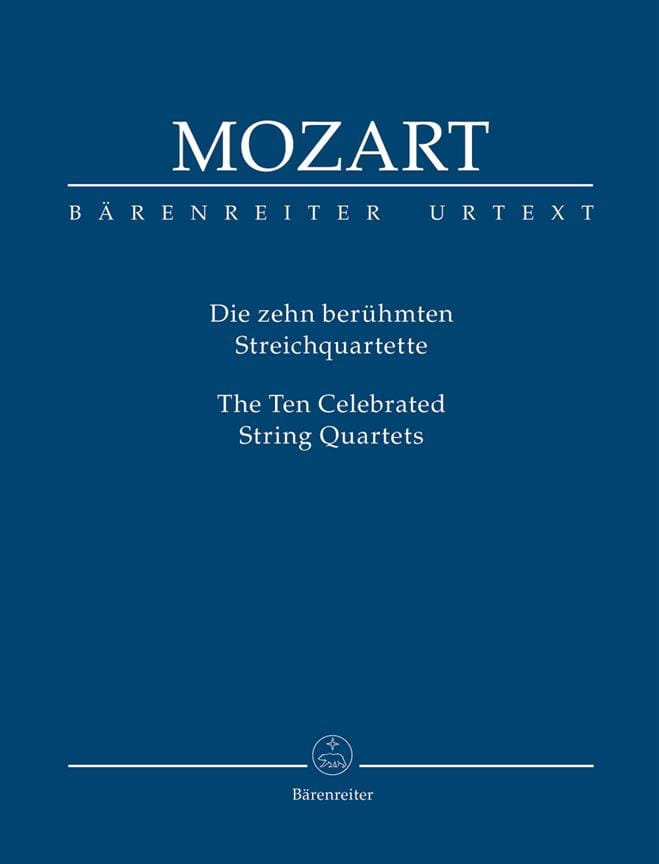 MOZART - The 10 most famous string quartets - conductor - Partition - di-arezzo.com