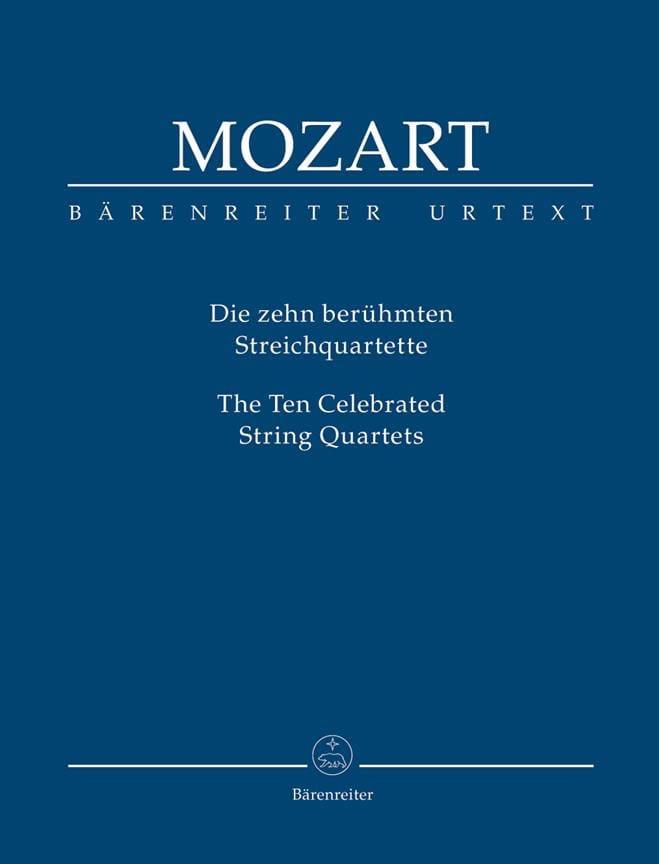 MOZART - Les 10 quatuors à cordes les plus célèbres - conducteur - Partition - di-arezzo.fr