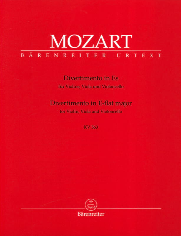 MOZART - Divertimento Es-Dur KV 563 - Instrumental parts - Partition - di-arezzo.co.uk