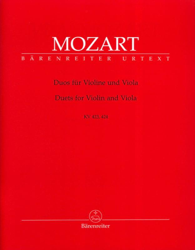 MOZART - Duos para violín y viola KV 423, 424 - Partition - di-arezzo.es