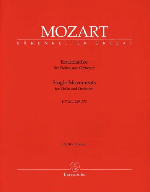 Einzelsätze für Violine KV 261, 269, 373 - Partitur - laflutedepan.com