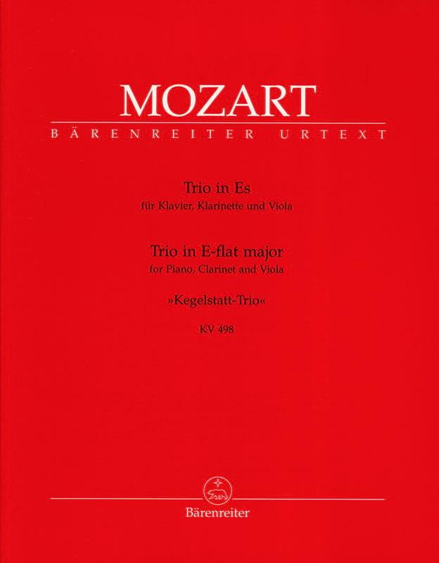 MOZART - Bowling Trio KV 498 E Flat Major - Alto Clarinet Piano - Partition - di-arezzo.co.uk
