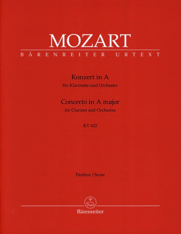 MOZART - Clarinet Concerto in Major KV 622 - Conductor - Partition - di-arezzo.co.uk