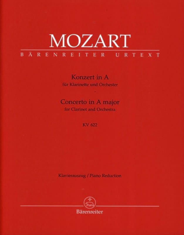 MOZART - Clarinet Concerto in A major K 622 - clarinet version in La - Partition - di-arezzo.co.uk